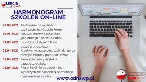 Harmonogram szkoleń on-line Ośrodka Doskonalenia Nauczycieli