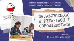 Kurs online: Dwujęzyczność w pytaniach i odpowiedziach
