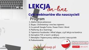 Lekcja: online! Cykl webinarów dla nauczycieli.