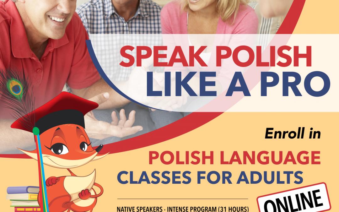 """Zajęcia języka polskiego dla dorosłych """"Learn Polish with us"""""""